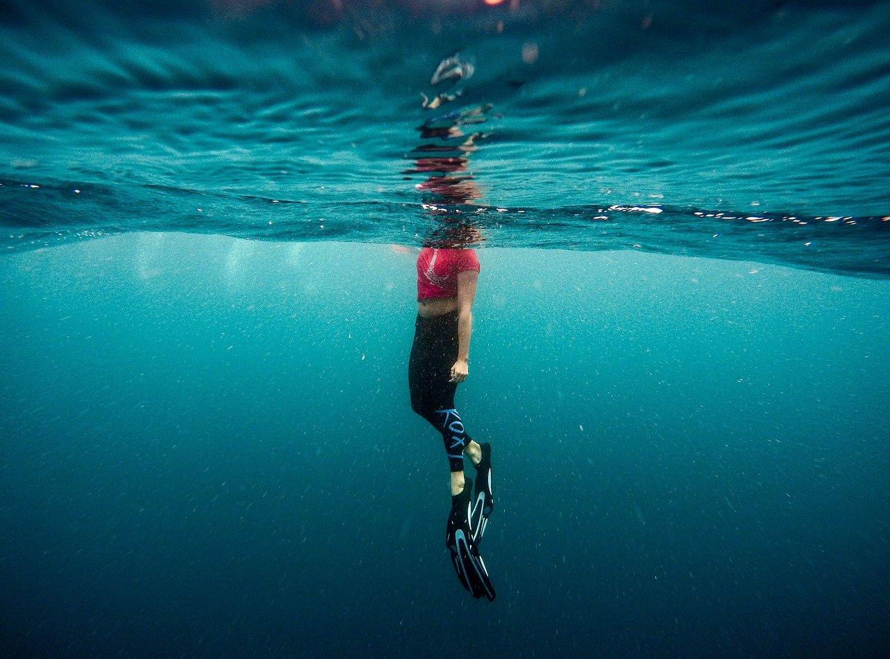 flippers, ocean, person-1836458.jpg